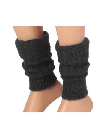 Bonnie Doon Soft & Shiny Leg Warmers oxford heather