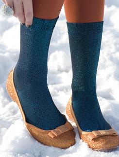 Bonnie Doon Cotton Socks with metallic yarn