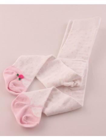 Bonnie Doon Ballerina Polka Dot Baby Tights pink panther