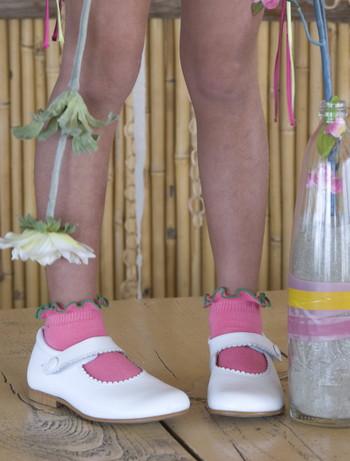 Bonnie Doon Lettuce Ruffle Top Socks for Children candy