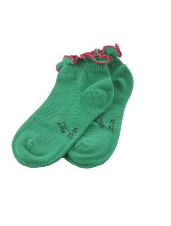 Bonnie Doon Lettuce Ruffle Top Socks for Children lucky