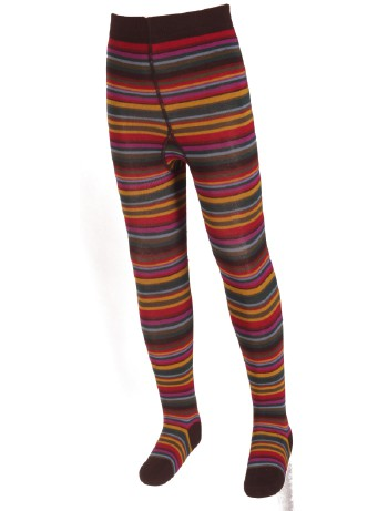 Bonnie Doon joyful Stripes Tights darkbrown/akebi