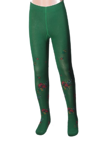 Bonnie Doon Bouquet Tights emerald