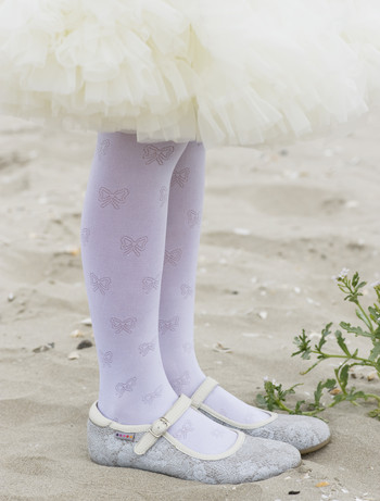 Bonnie Shiny Bow tights white