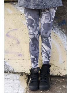 Bonnie Doon Graffiti Footless Leggings