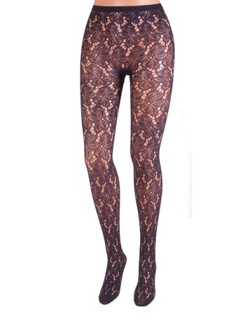 Bonnie Doon Bruges Lace Tights navy
