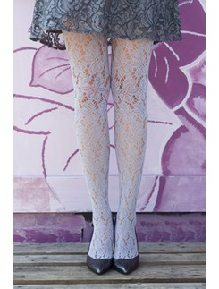 Bonnie Doon Bruges Lace Tights