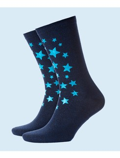 Burlington Starry Night lurex socks