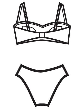 Bahama Beachwear Coralita Bikini Coralita Orange