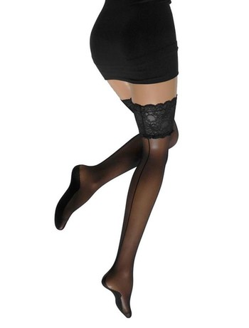 Cette Salzburg Back Seamed Hold-Ups black