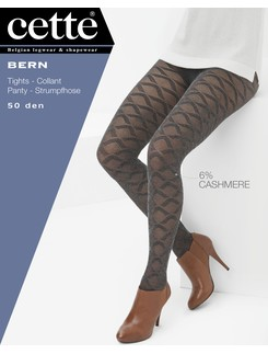 Cette Bern diamond patterned pantyhose with cashmere