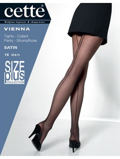 Cette Vienna Size Plus 16 fine pantyhose with high heel