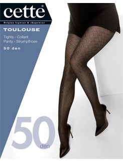 Cette Toulouse 50 Size Plus Tights with geometric pattern