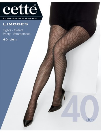 Cette Limoges 40 Tights with honeycomb pattern black