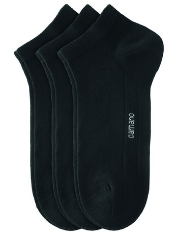 Camano CA-Soft Cotton Sneaker 3 Pack black
