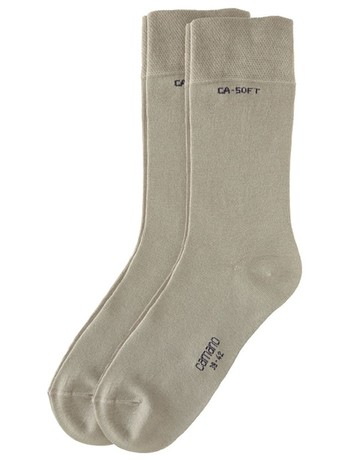 Camano 2pack bio-cotton mens socks sand