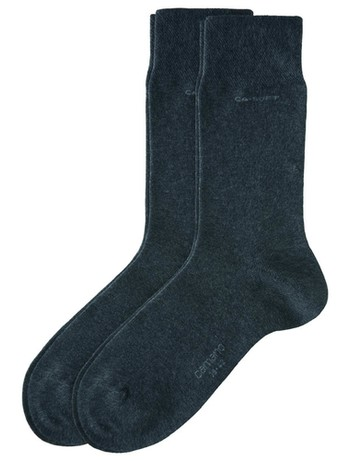 Camano CA-Soft cottons sox with Two-Pack dark brown