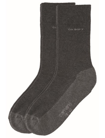 Camano 2pair cotton Socks anthracite melange