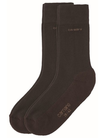 Camano 2pair cotton Socks dark brown