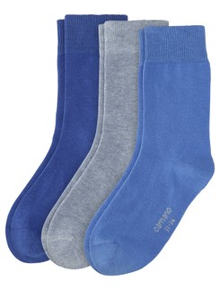 Camano 3 Pack Children's Cotton Socks
