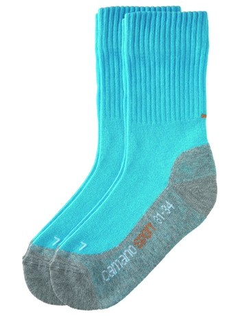 Camano Children Sport Socks Double Pack turquoise