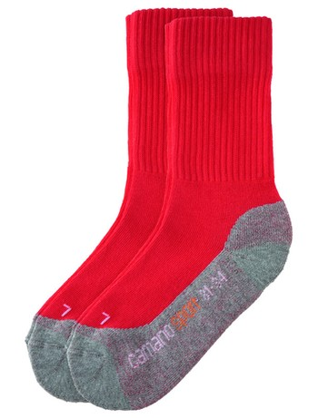 Camano Children Sport Socks Double Pack red-grey