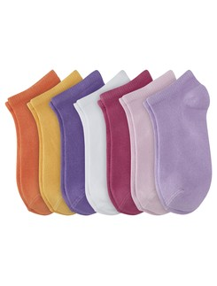 Camano Junior Cotton Ankle Socks in 7 Pack