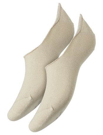 Camano Unisex Invisible Sneaker Socks Double Pack sand