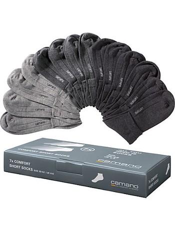 Camano Soft 7pairs of short socks cotton grey