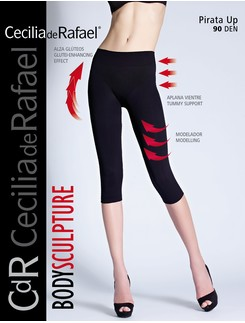 Cecilia de Rafael 90 Pirata Up Shapewear Capri Leggings