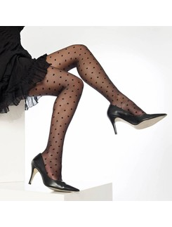 Cecilia de Rafael Lyli tights 20DEN with black dots