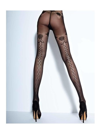 Cecilia de Rafael Feeling 30den patterned tights Strapless Look negro
