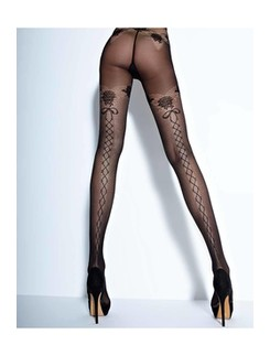 Cecilia de Rafael Feeling 30den patterned tights Strapless Look