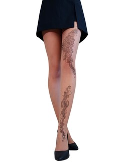 Cecilia de Rafael Tatoo tights 15DEN leg tattoo patterned