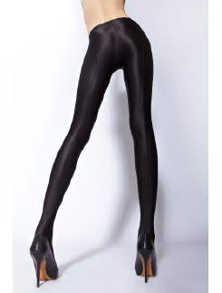 Cecila de Rafael Uppsala opaque seamed Wet Look Tights