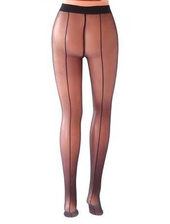 Cecilia de Rafael Sevilla Chic back seamed tights negro