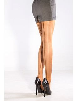 Cecilia de Rafael 15den Sevilla Chic back seamed tights
