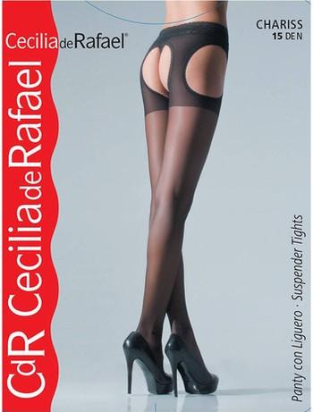 Cecilia de Rafael Chariss Suspender-Belt Stock negro
