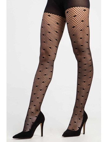 CdR Samburu Pretty Moda net tights negro