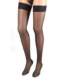 Cervin Agnes Luxe Stockings with Satin Band