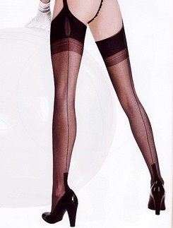Cervin Havana Couture 15 Fully Fashioned RHT Strap-On Stockings
