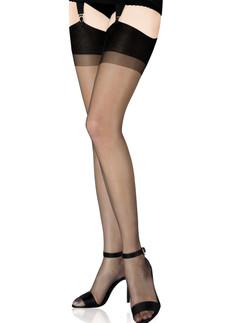 Cervin Capri 7 Nylon Suspender Stockings