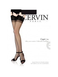 Cervin Capri 7 Nylon Suspender Stockings