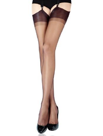 Cervin Capri 15 Suspender Stockings brown