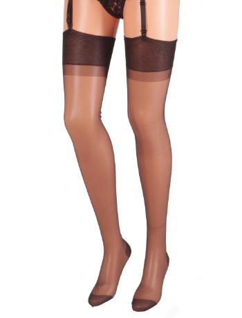 Cervin Capri 15 Suspender Stockings black