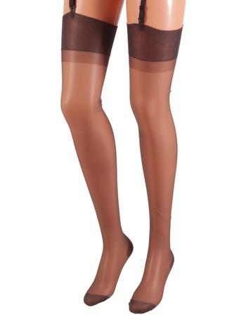 Cervin Capri 15 Suspender Stockings dark grey