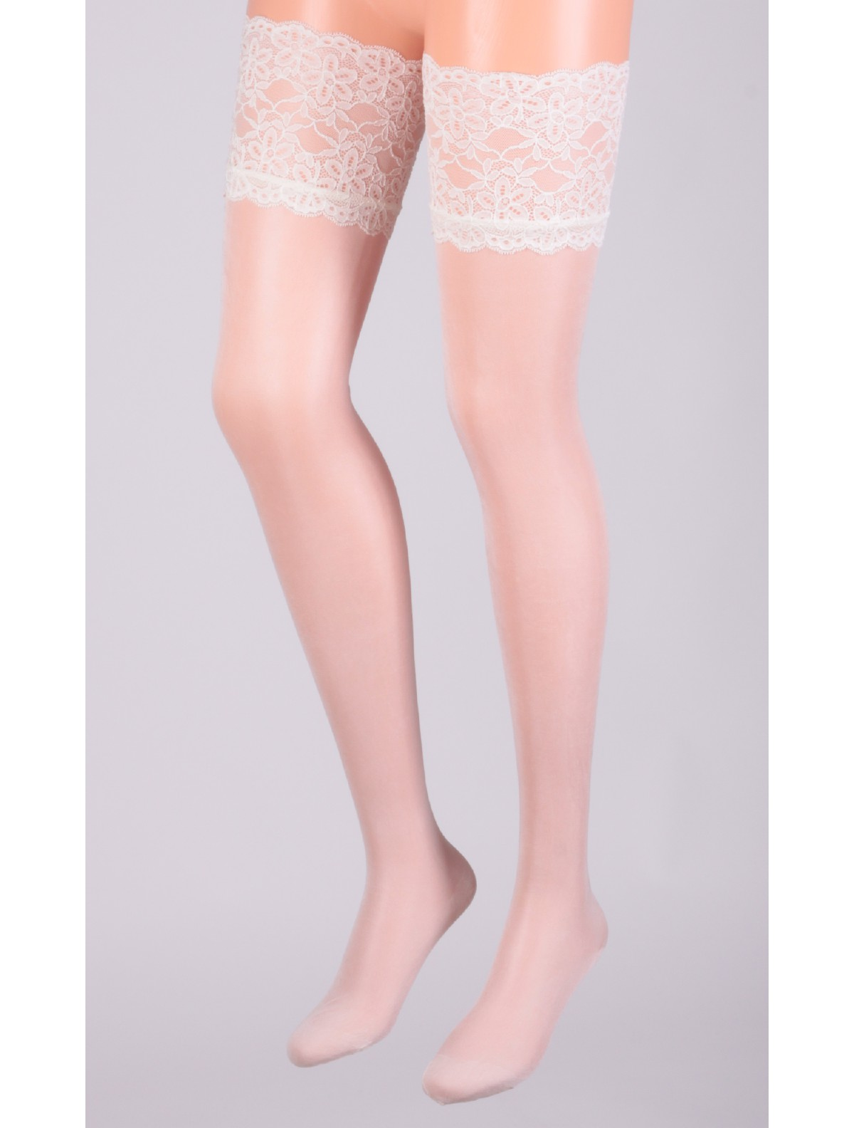 83533ab83 ... Cervin Rive Gauche Silk Hold-Ups ivory