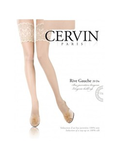 Cervin Rive Gauche Silk Stay-up Stockings