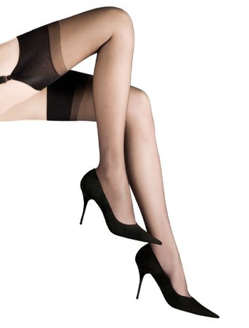 Cervin Champs-Elysee Pure Silk Stockings black