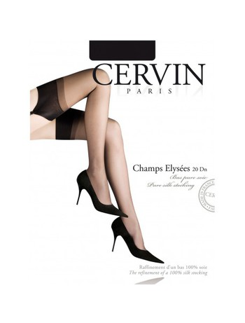 Cervin Champs-Elysee Pure Silk Stockings